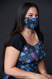 Adult Face Mask - Belcourt Bee Print