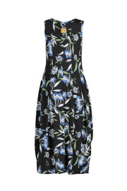 Tiger Dress -  Black/Blue Floral