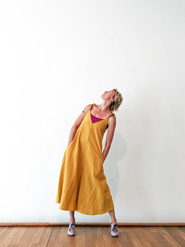 Jumpsuit - Yellow - Linen Blend