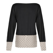Marilyn Top - Beige Dot