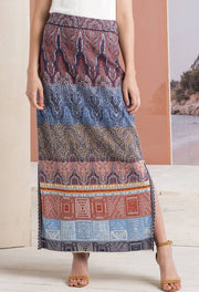 Long Geometric Summer Skirt