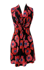 Sara Dress - Red Floral