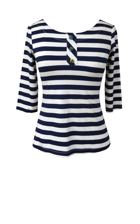 Surprise Top - Navy/White