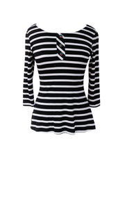 Surprise Top - b/w stripes