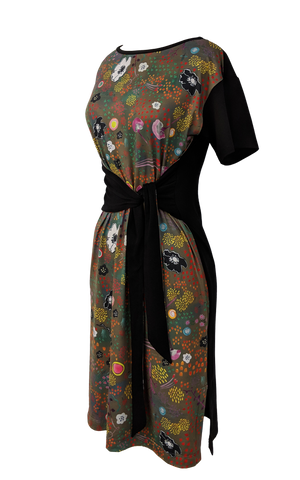 2-way wrap dress - butterfly