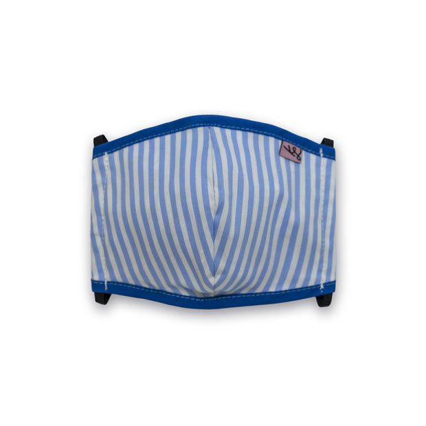 Kids Unisex Mask - Blue stripes // Masque Enfants - Rayures bleues