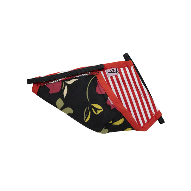 Kids Unisex Mask - Red stripes // Masque Enfants - Rayures rouges