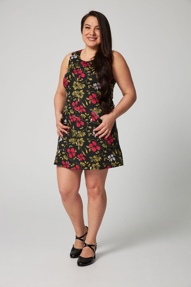 Mod Dress 2 - Black Floral