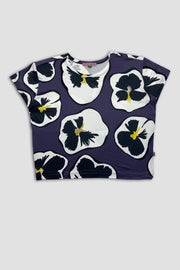 MOMA T-Shirt - Purple Pansies