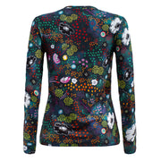 Crew Neck - Night Garden Dark