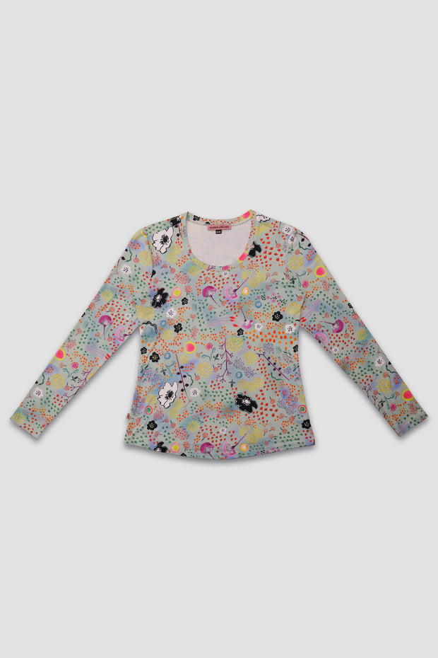 Crew Neck - Night Garden Light
