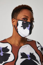 Adult Unisex Mask - Tobacco Pansies