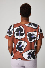 MOMA T-Shirt - Tobacco Pansies