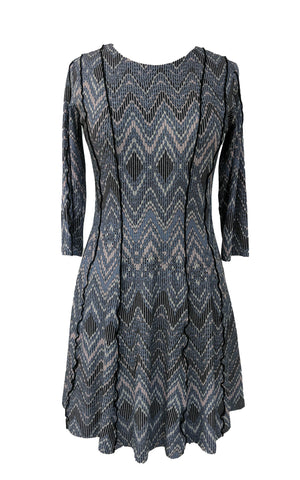 IVKO Dress Floral embroidery - navy