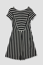 Surprise Dress - Black/White Stripes 5