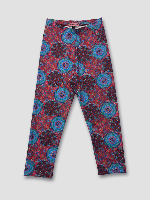 Sport/Yoga/Swim Leggings RED CIRCLES