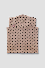 Neck warmer/mask - Black polka dots