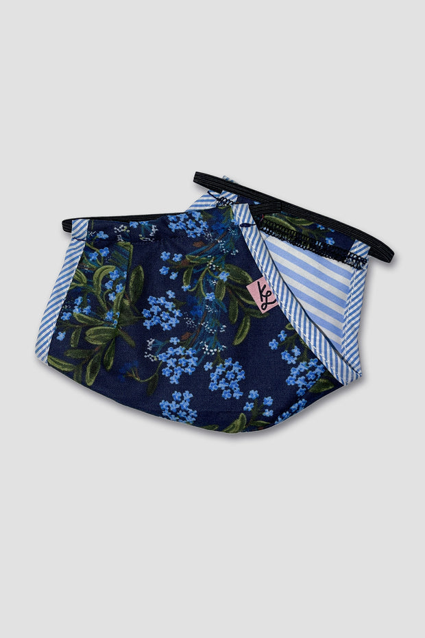 Adult Unisex Mask - Navy Floral by Rifle Paper Co. -  // Masque - Floral Marine