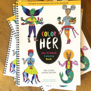 Livre de coloriage Mix 'n Match Color-Her