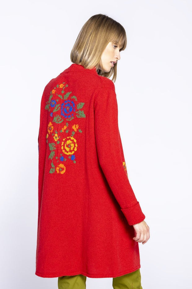 The New Thick and Delicious floral coat - Red