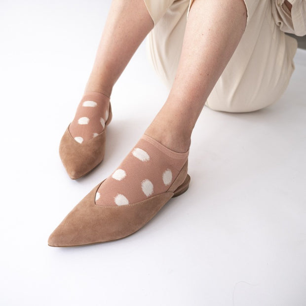 Socquettes Pois Nude // Ankle Socks Nude Polka Dot