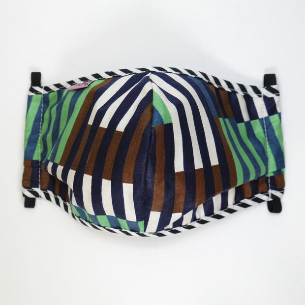 Adult Unisex Mask - Stripes by Vlisco // Masque - Rayures par Vlisco