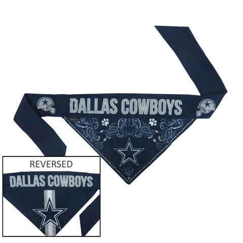 Dallas Cowboys Pet Reversible Paisley Bandana