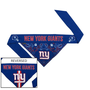 New York Giants Pet Reversible Paisley Bandana