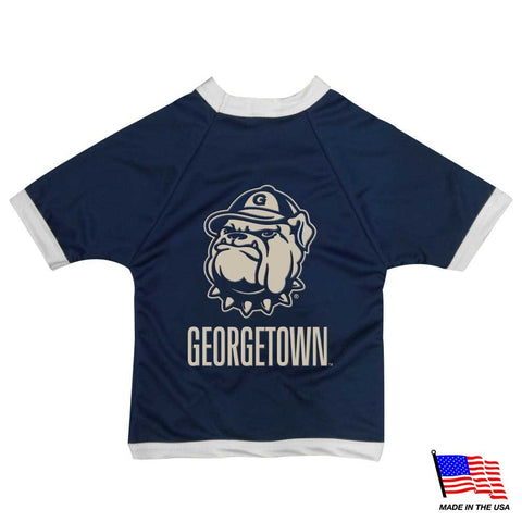 Georgetown Hoyas Athletic Mesh Pet Jersey
