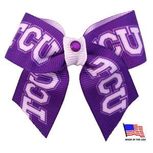 TCU Horned Frogs Pet Hair Bow
