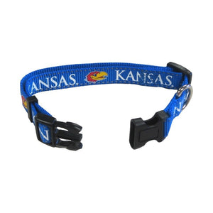 Kansas Jayhawks Pet Reflective Nylon Collar
