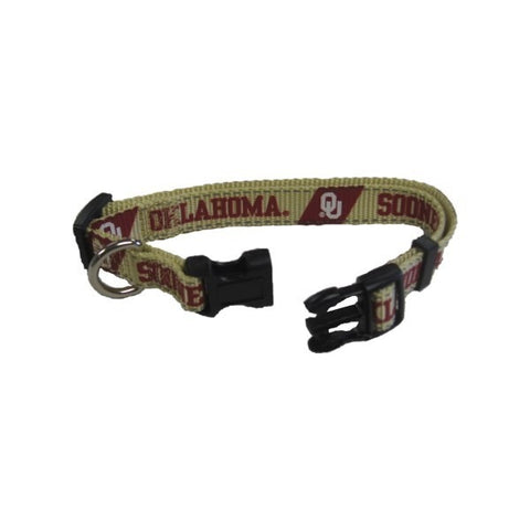 Oklahoma Sooners Pet Reflective Nylon Collar