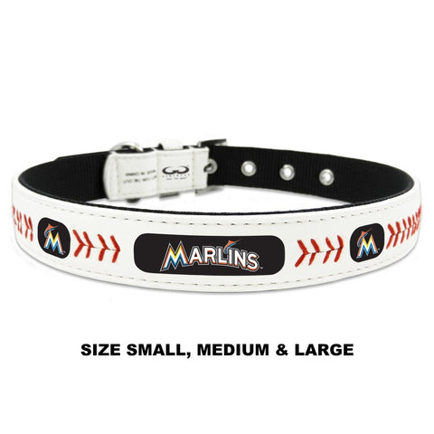 Miami Marlins Classic Leather Baseball Collar