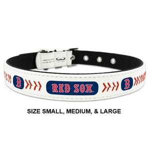 Boston Red Sox Classic Leather Baseball Collar