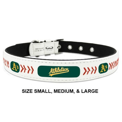 Oakland A's Classic Leather Baseball Collar