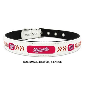 Washington Nationals Classic Leather Baseball Collar