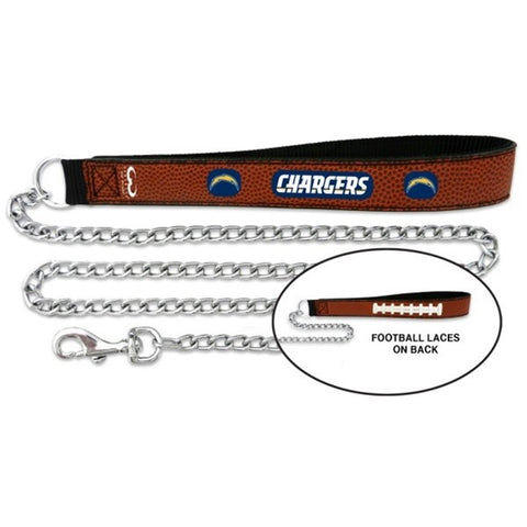 Los Angeles Chargers Football Leather and Chain Leash