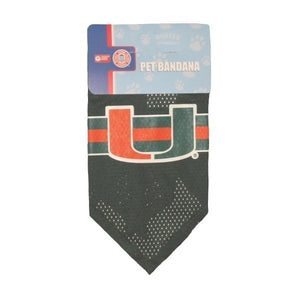 Miami Hurricanes Mesh Dog Bandana