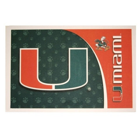 Miami Hurricanes Pet Mat