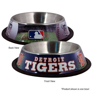 Detroit Tigers Stainless Steel Pet Bowl