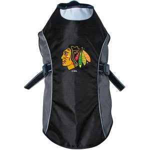Chicago Blackhawks Water Resistant Reflective Pet Jacket