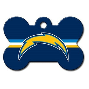 Los Angeles Chargers Bone ID Tag
