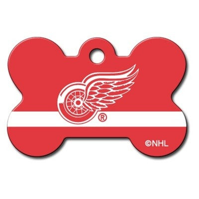 Detroit Red Wings Bone ID Tag