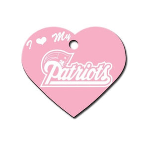 New England Patriots Heart ID Tag