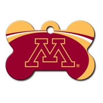 Minnesota Golden Gophers Bone ID Tag