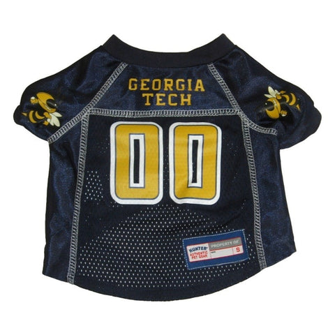 Georgia Tech Pet Mesh Jersey #2 SM