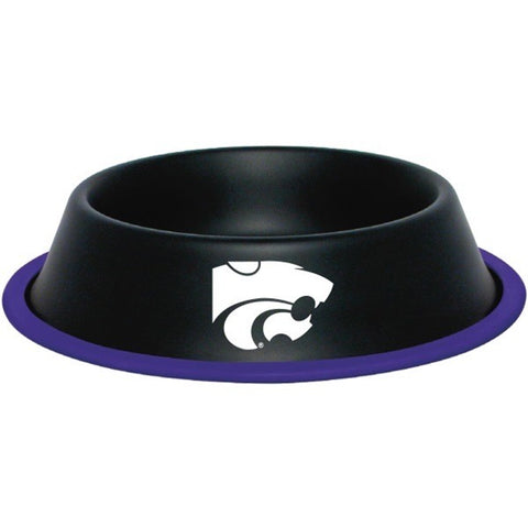 Kansas State Wildcats Gloss Black Pet Bowl