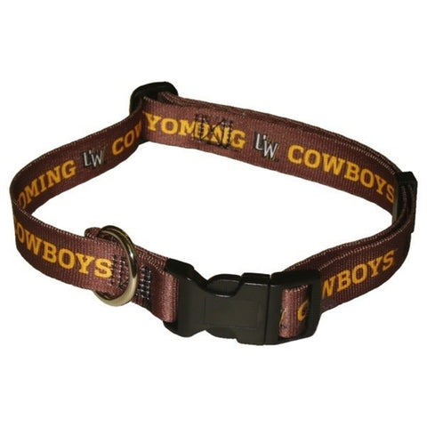 Wyoming Cowboys Pet Collar
