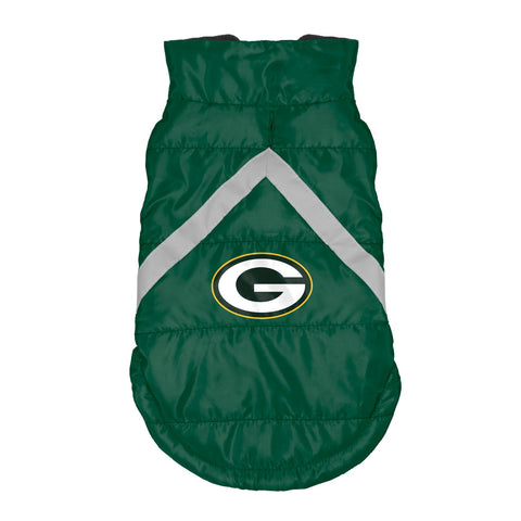 Green Bay Packers Pet Puffer Vest