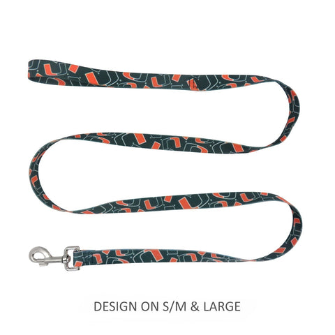 Miami Hurricanes Pet Nylon Leash